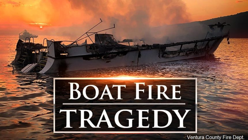 Boat fire tragedy graphic