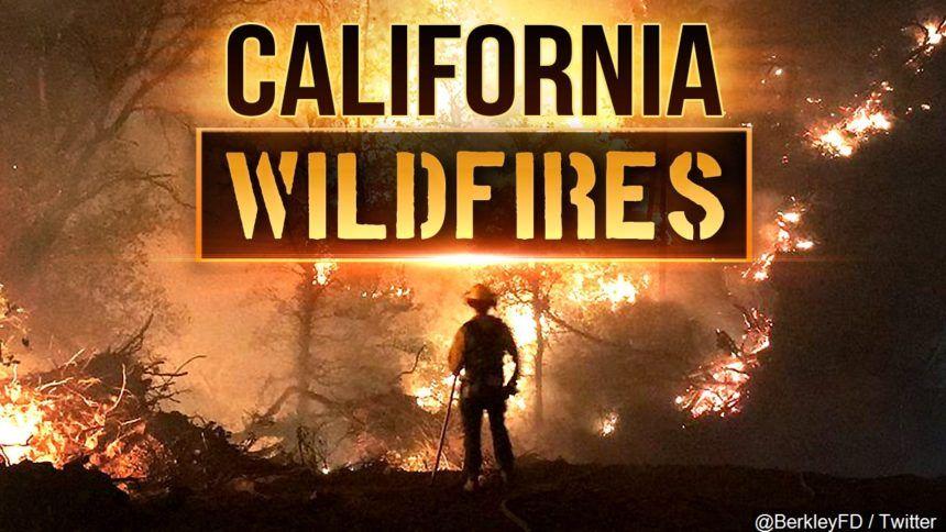 California wildfire graphic
