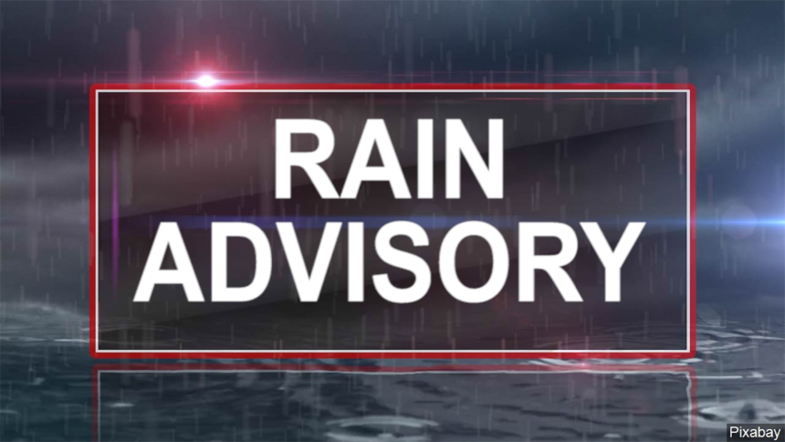 RAIN ADVISORY GRAPHIC