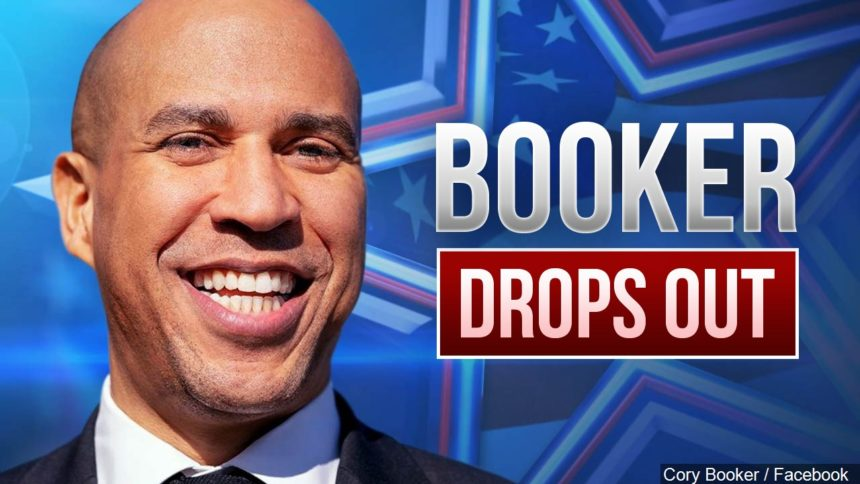 BOOKER DROPS OUT