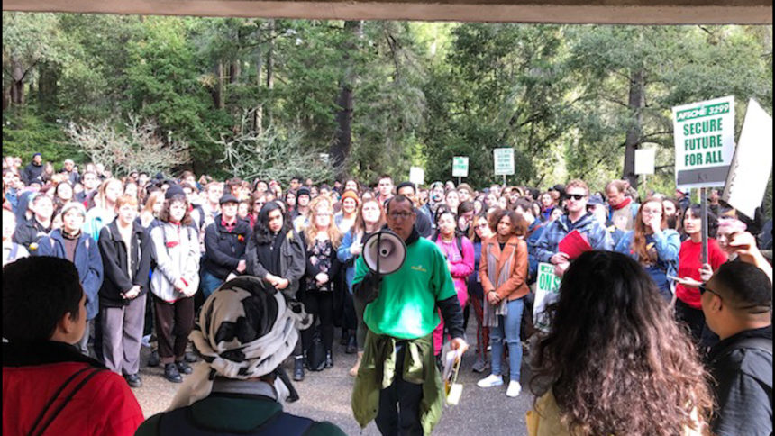UCSC strike rally