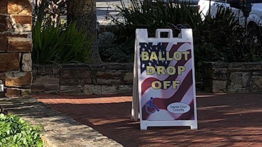santa cruz county ballot drop off