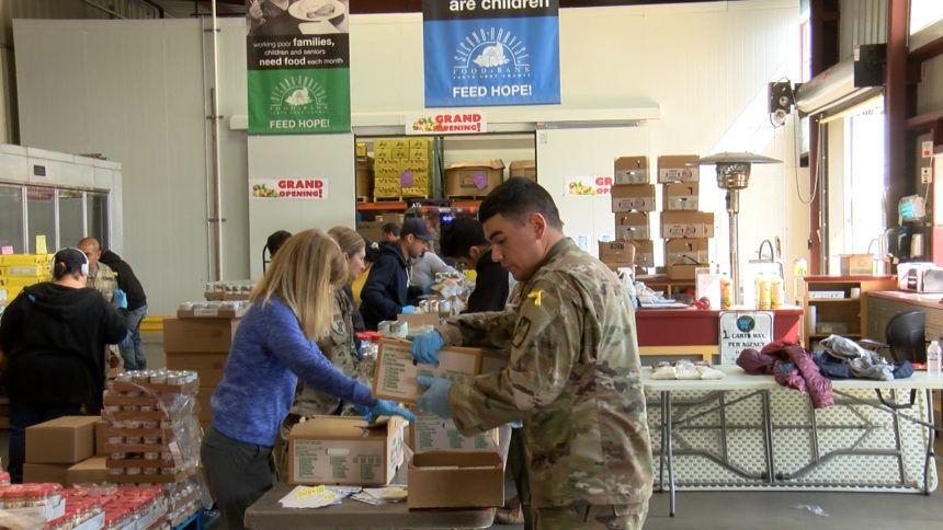National Guard helps food banks