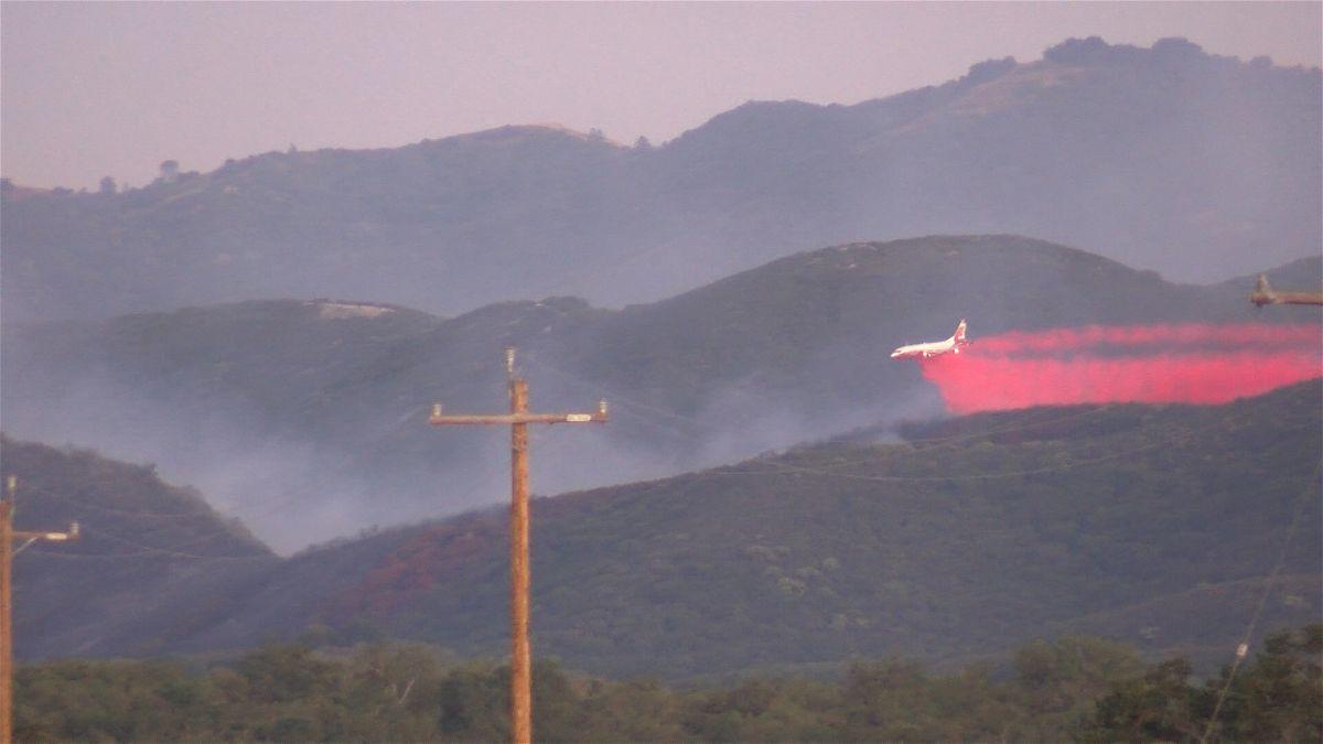Fire burning south of Lockwood