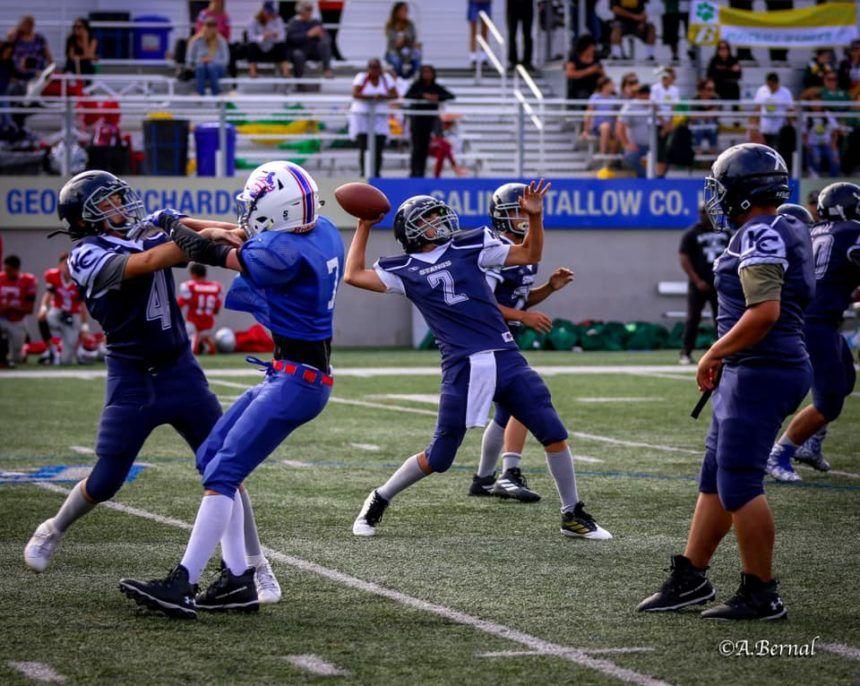 Monterey Bay Youth Football cheer league