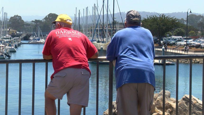 People on Old Fisherman's Wharf