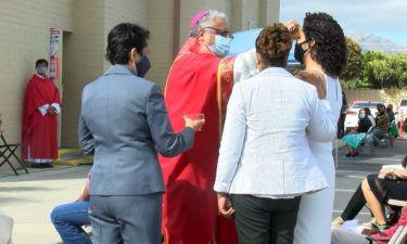 Outdoor confirmation ceremony