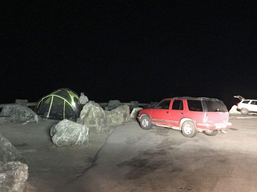big sur illegal camping