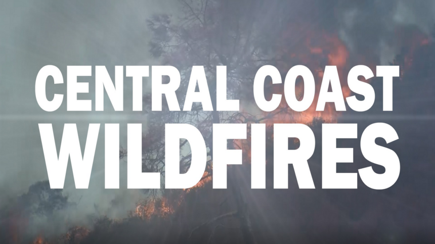 central coast wildfires