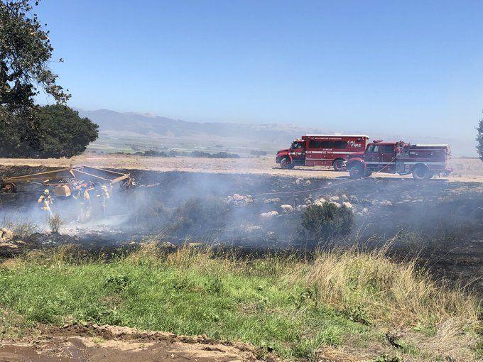 river road vegetation fire