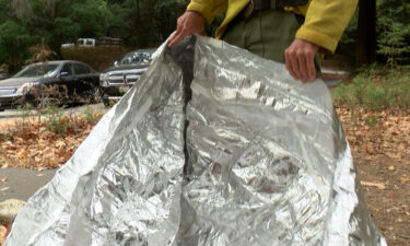Portable fire shelters protect firefighters during Dolan Fire