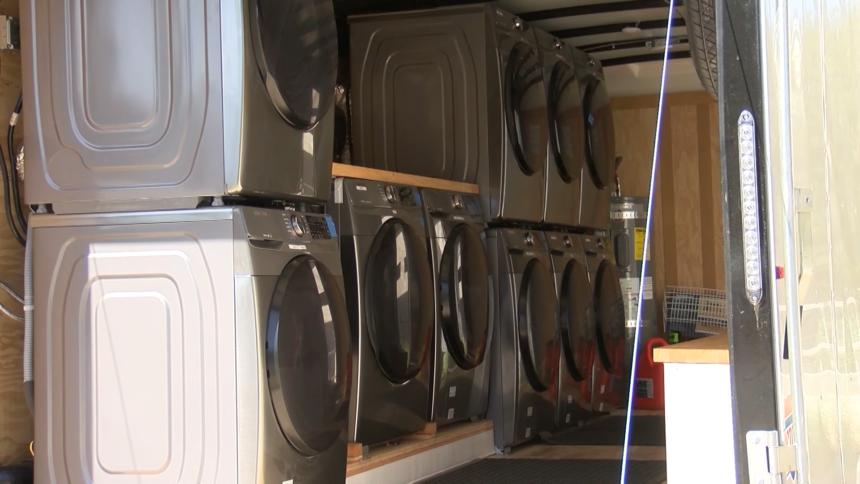 mobile laundry trailer felton