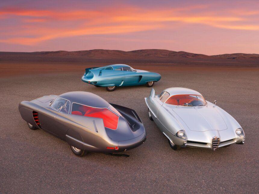 1953,54,55 Alfa Romeo Bertone B.A.T. 5,7,9 On Pavement