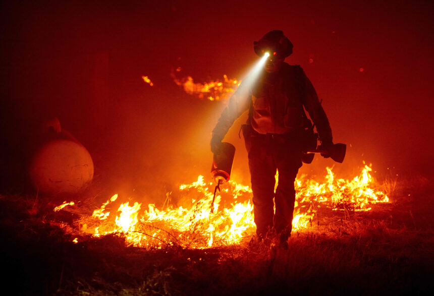 Firefighter in Wildfire