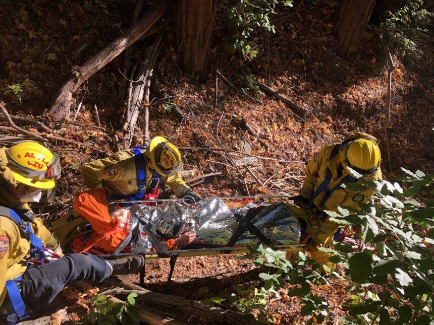 cal fire czu rope rescue 2