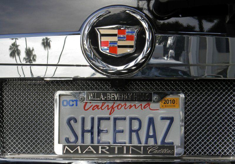 california vanity plate