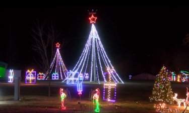 Holiday Lights drive-thru experience