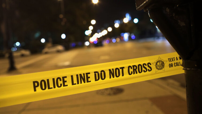 Police Line Do Not Cross Caution Teenage Girl and Infant Among Four Shot in Road Rage Incident