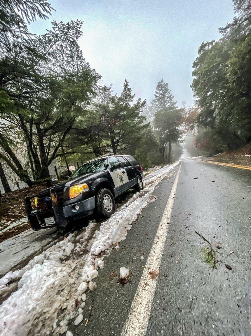 santa cruz mountain snow chp 1 27 2021