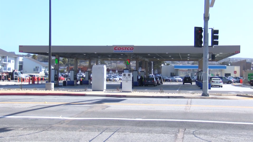 costco gas station seaside sand city