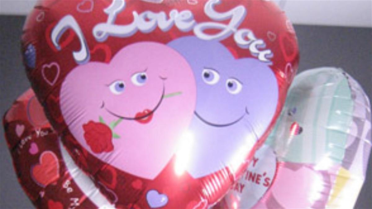File photo of metallic balloons