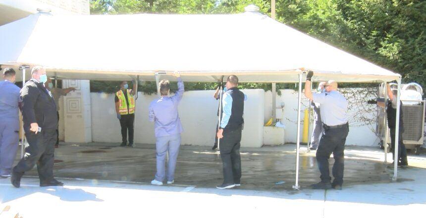 CHOMP Triage tent takedown