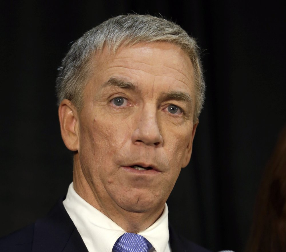 In this Oct. 8, 2014, file photo Republican Doug Ose speaks during a debate in Sacramento, Calif. Ose says he's entering the recall election aimed at ousting Democratic Gov. Gavin Newsom. He becomes the third established Republican to enter the race, joining former San Diego Mayor Kevin Faulconer and businessman John Cox. Ose served in Congress from 1999 to January 2005.