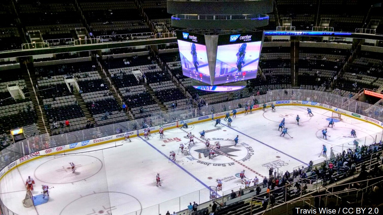 SAP Center, home to the San Jose Sharks, Photo Date: 2/9/15
