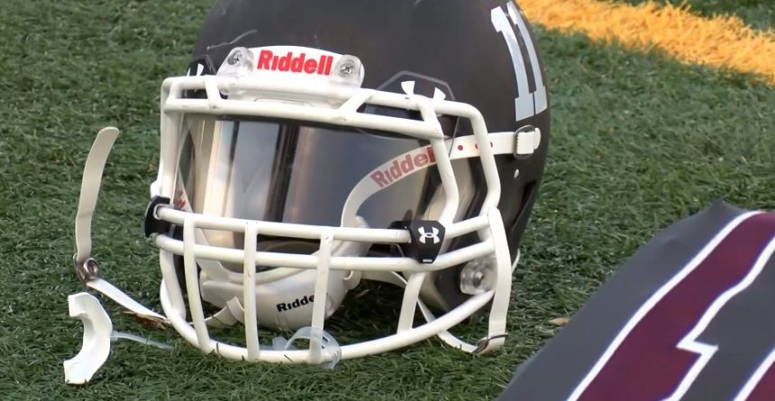 youth sports football helmet