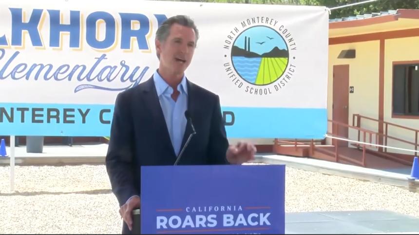 Governor Newsom in Monterey County