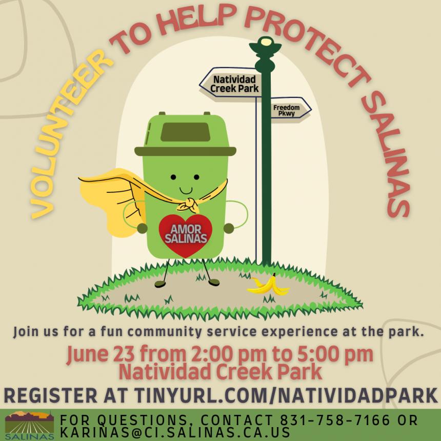 Salinas Natividad Park Clean Up