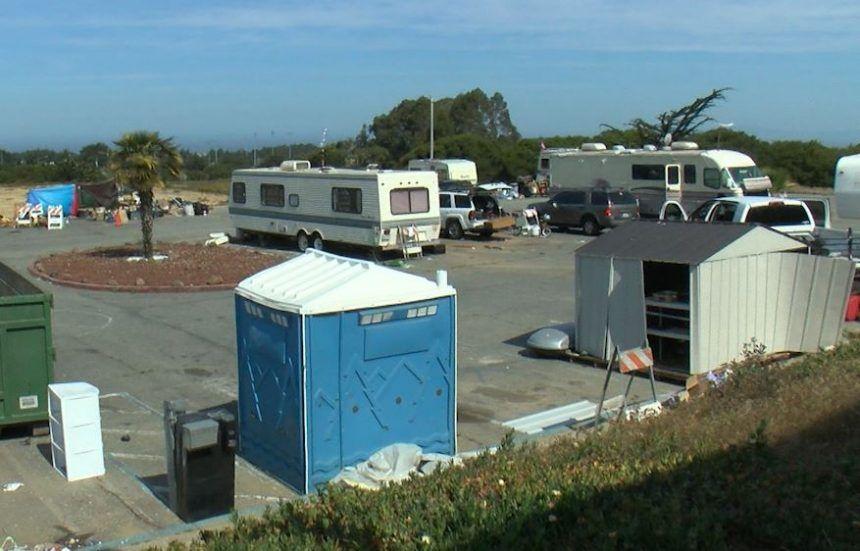 seaside homeless encampment