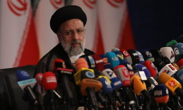 Iran's new President-elect Ebrahim Raisi speaks during a news conference in Tehran