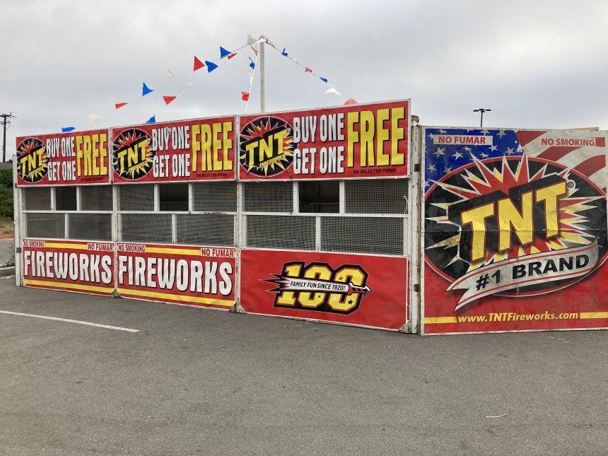 Watsonville Jr. Wildcatz firework stand in Watsonville.