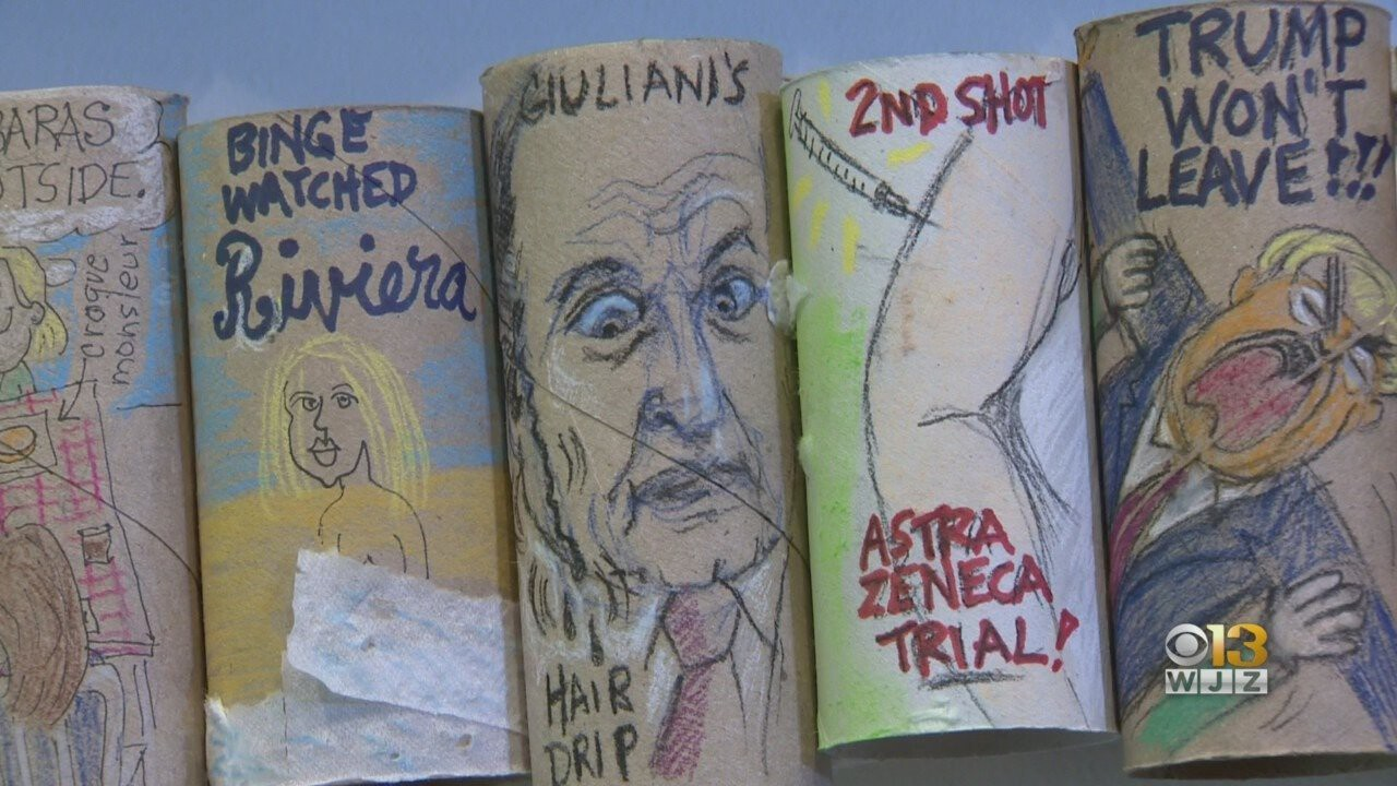 <i>WJZ</i><br/>Barbara Dale used the materials she had at hand to chronicle a pandemic year none of us will ever forget and the materials at hand just happened to be toilet paper rolls.