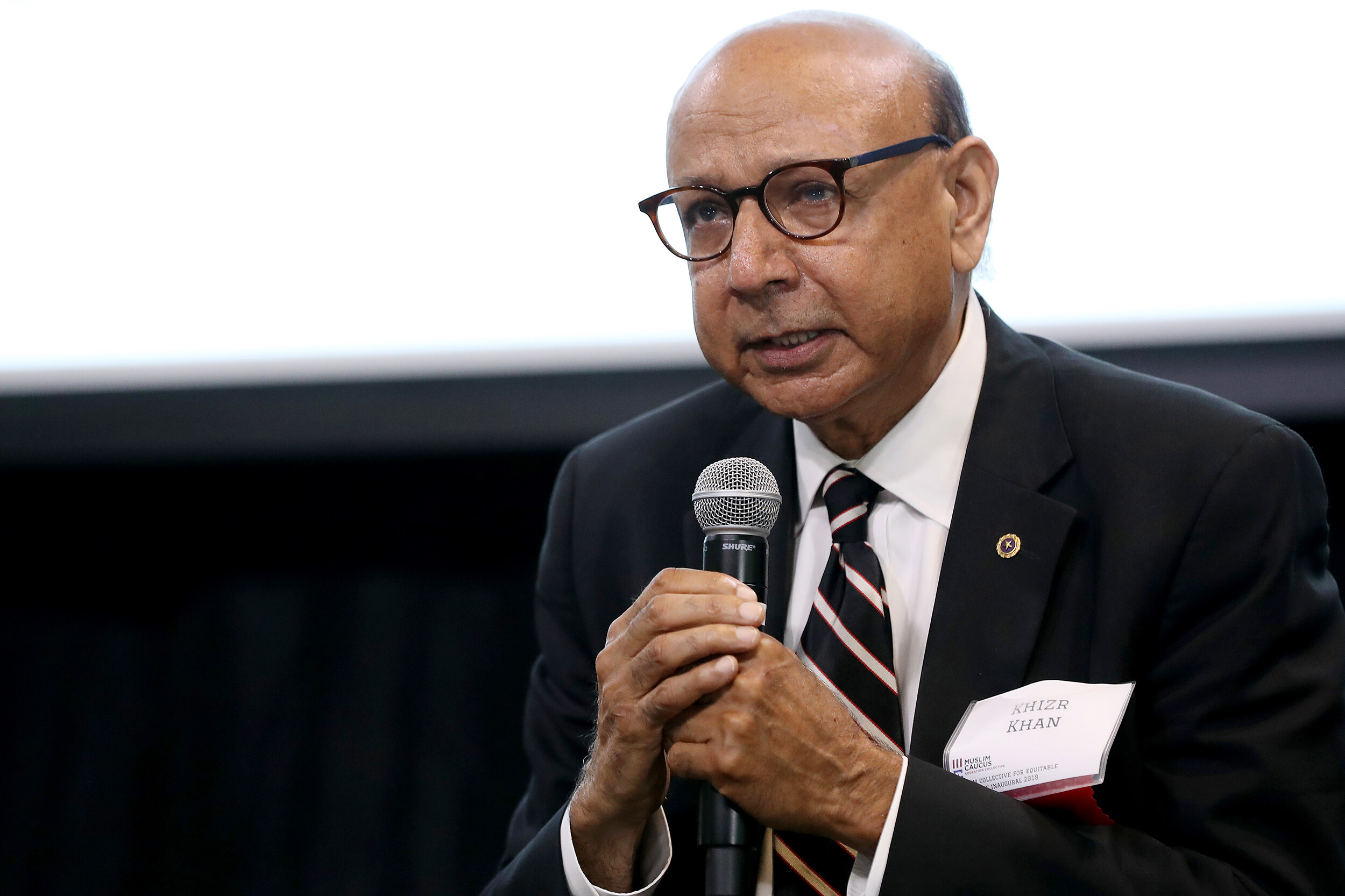 <i>Chip Somodevilla/Getty Images/FILE</i><br/>President Joe Biden announced that he was appointing Khizr Khan