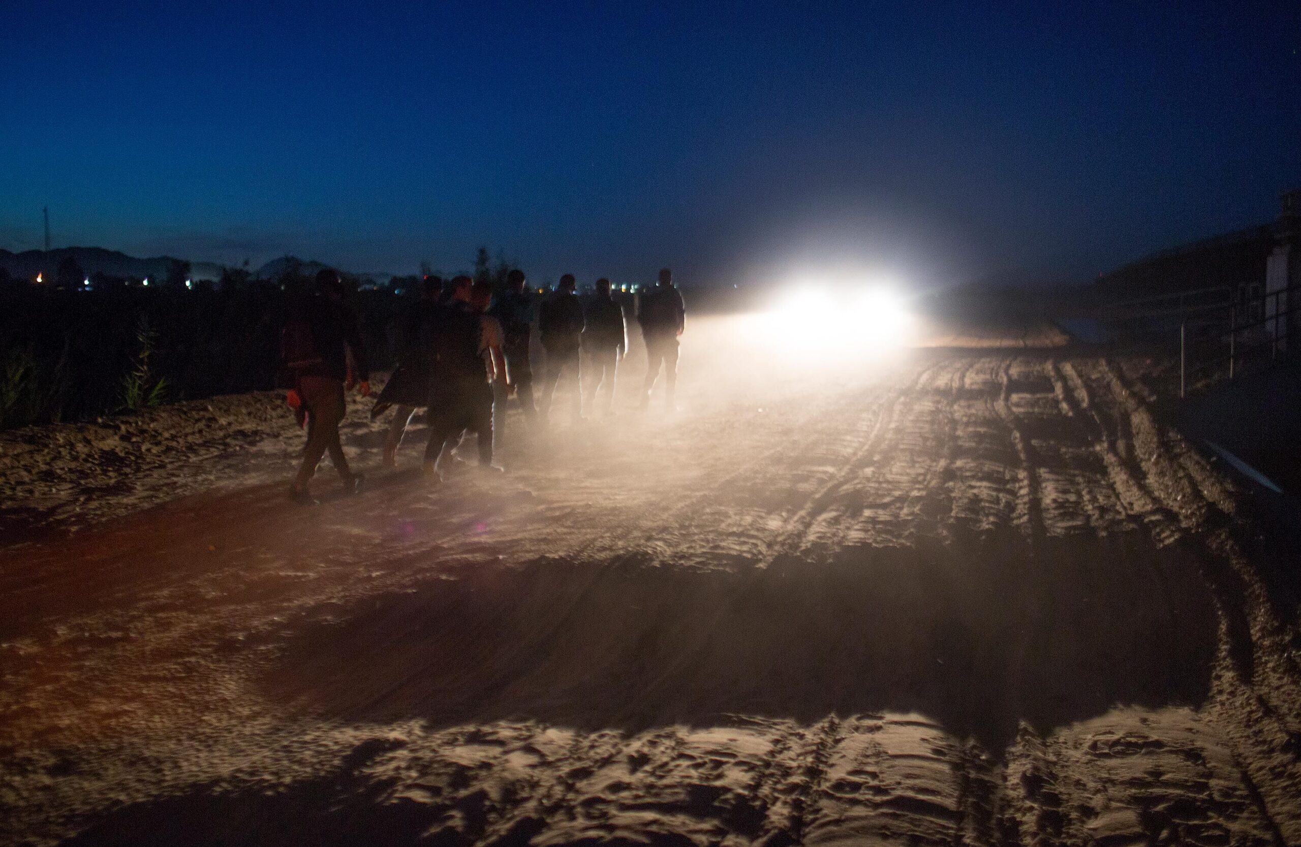 <i>Andrew Lichtenstein/Corbis News/Getty Images</i><br/>Central American asylum seekers are detained by the the US Border Patrol after they crossed into the United States from Mexico on April 29 near Yuma