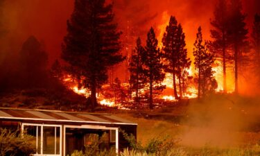 The Tamarack Fire burns in Alpine County