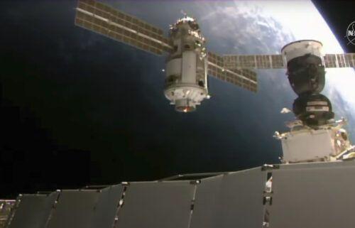 This image provided by NASA shows the 20-metric-ton (22-ton) Nauka module