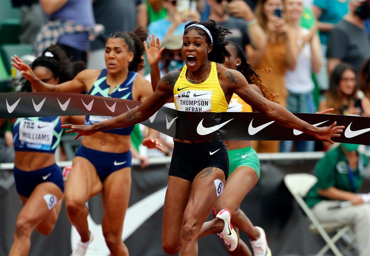 <i>Jonathan Ferrey/Getty Images</i><br/>Olympic champion Elaine Thompson-Herah