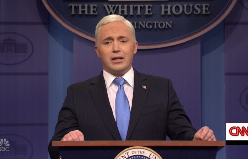 """Beck Bennett is leaving 'Saturday Night Live.' Bennett here performs as former Vice President Mike Pence on """"Saturday Night Live."""""""