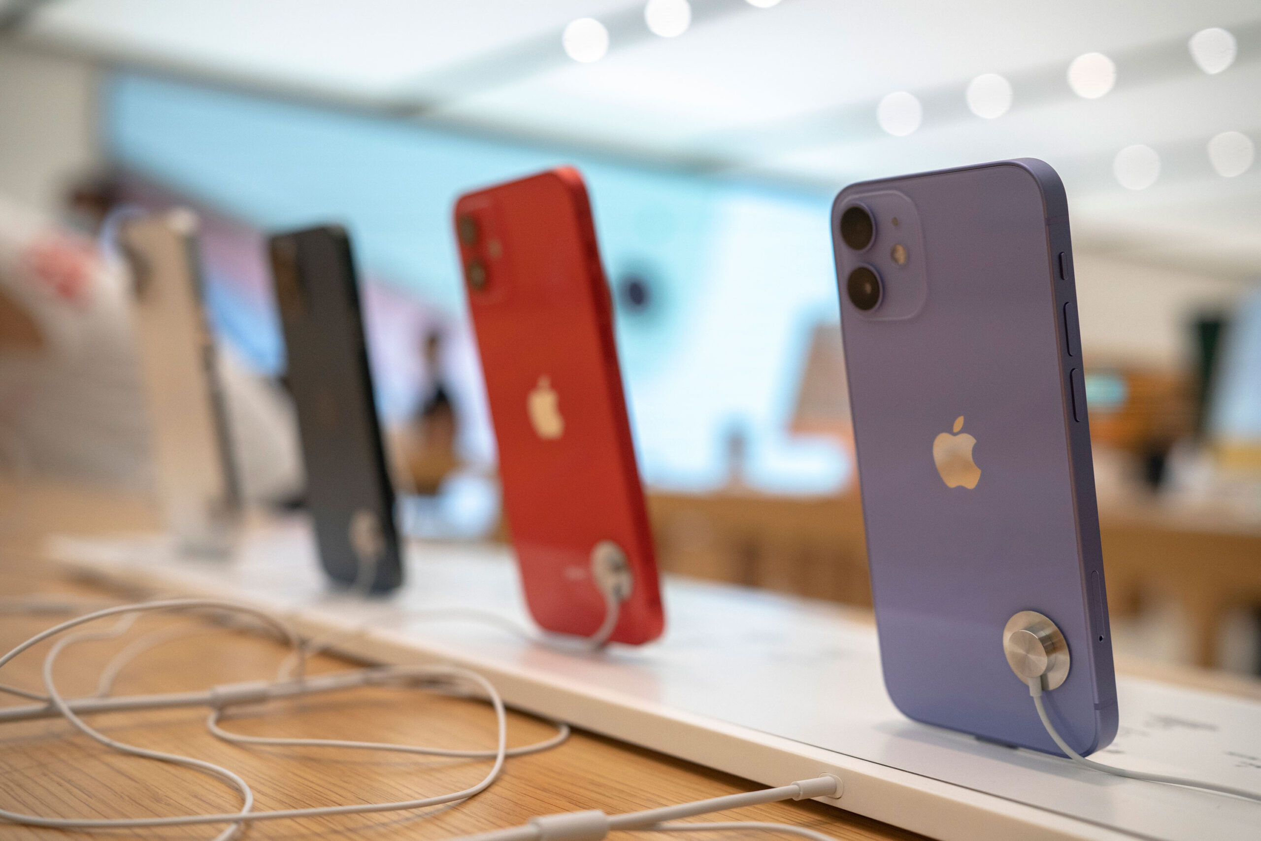 <i>Zhang Peng/LightRocket/Getty Images</i><br/>The iPhone 12 series.