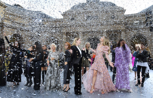The finale of L'Oreal's last physical show at Paris Fashion Week