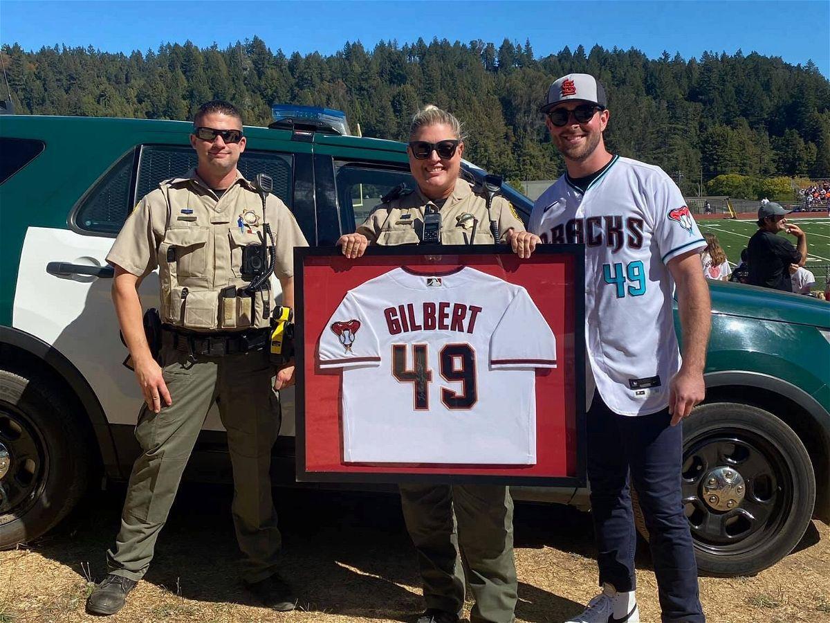 Santa Cruz County Sheriff with MLB Tyler Gilbert