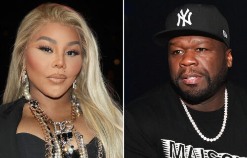 After rapper/actor/producer 50 Cent (R) posted his amusement about a viral TikTok video that compared raptress Lil Kim (L) dancing to a leprechaun