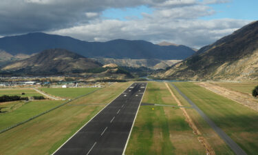Fly into Queenstown and you might get spectacular views of the Southern Alps.