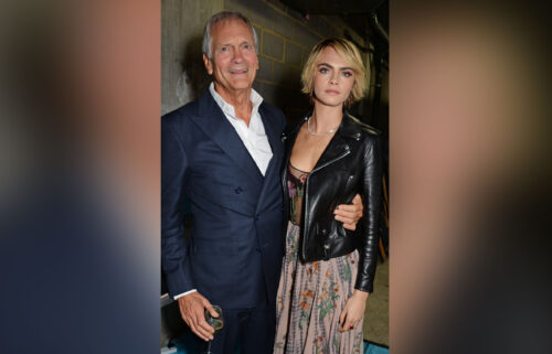 Charles Delevingne and Cara Delevingne pictured in London in 2018.