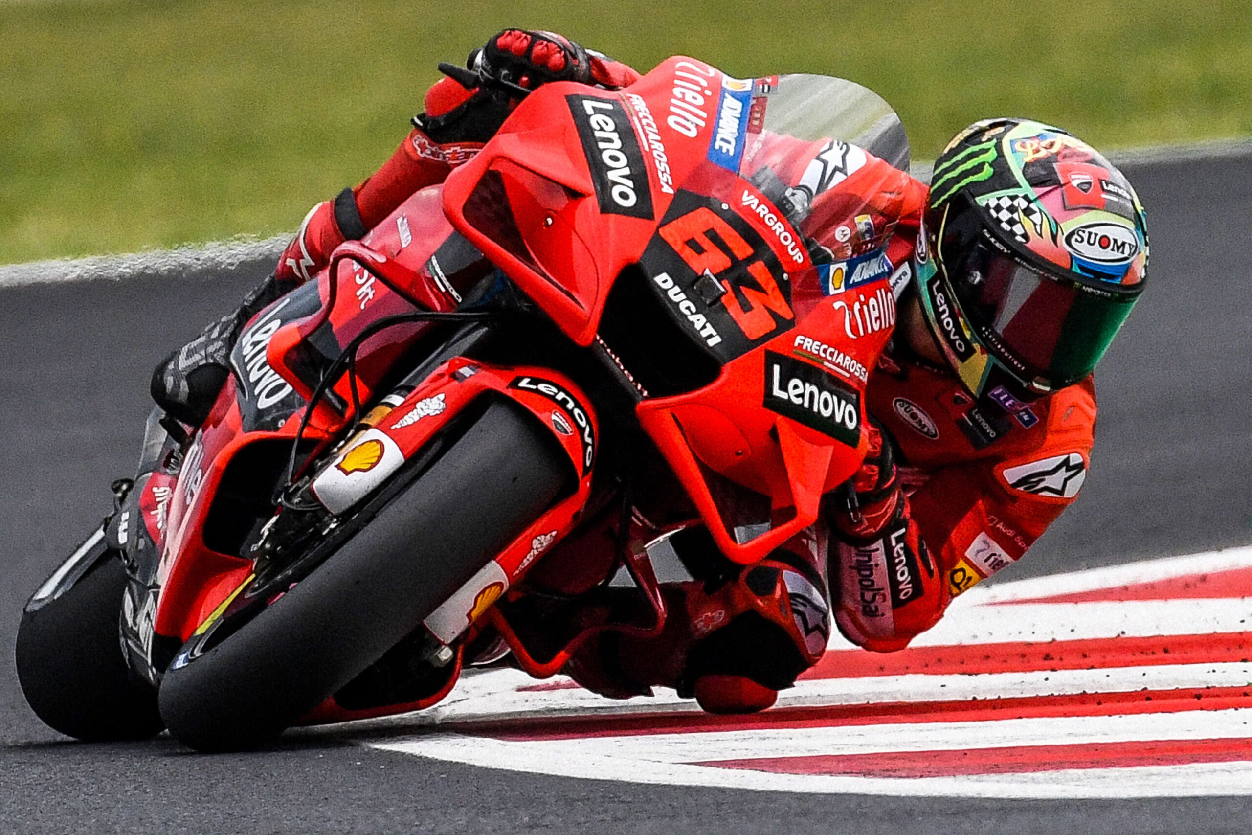 <i>Andreas Solaro/AFP/Getty Images</i><br/>Bagnaia competes during the San Marino MotoGP Grand Prix at the Misano World Circuit Marco-Simoncelli on September 19