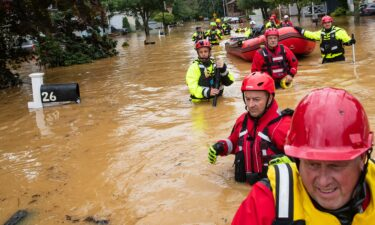 The effects of climate change will be wide-reaching and will pose problems for every government. Members of the New Market Volunteer Fire Company are shown here during an evacuation effort following a flash flood in Helmetta